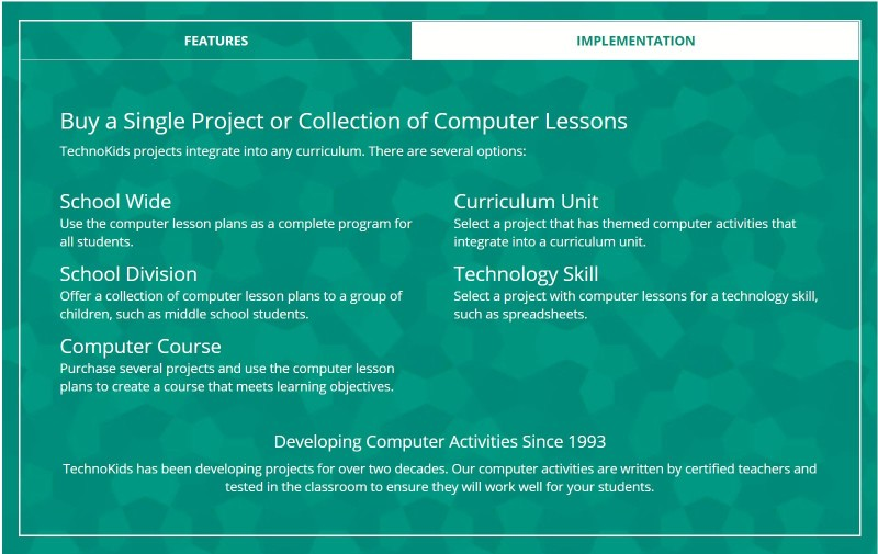 Technokids Implementation of Project Based Learning