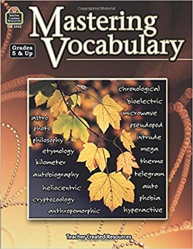 Mastering Vocabulary Book Cover