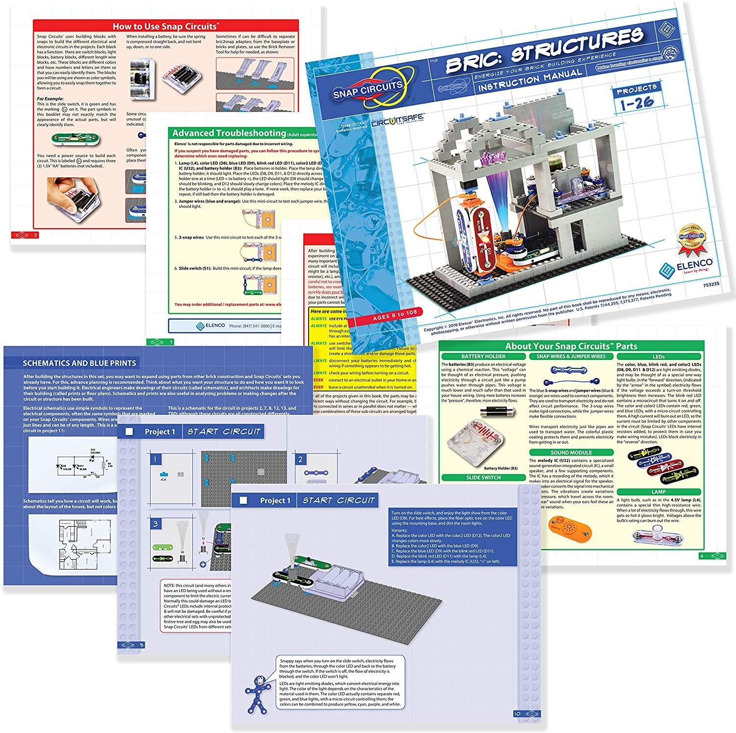 Snap Circuits Bric Structures sample projects