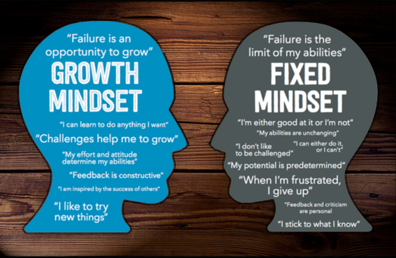Growth versus Fixed Mindset Image