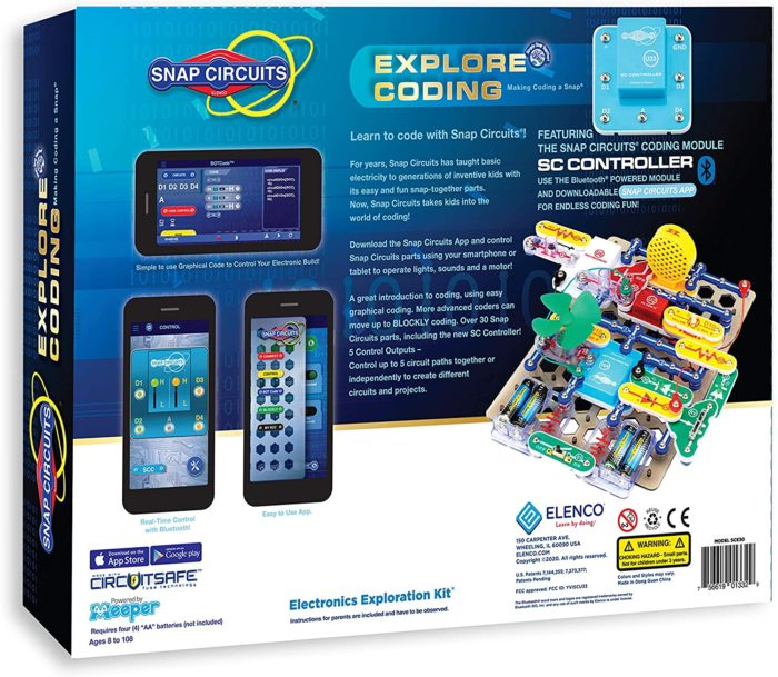 Snap Circuits Explore Coding Kit sample projects