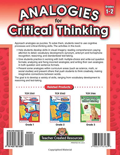 Analogies for Critical Thinking back cover