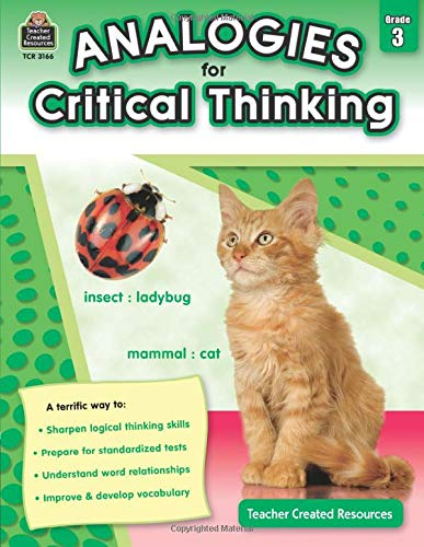 Analogies for Critical Thinking Grade 3 Cover