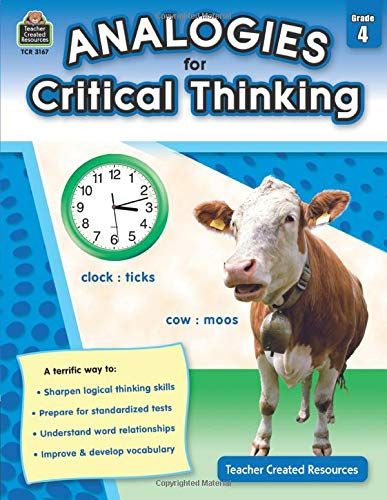 Analogies for Critical Thinking Grade 4 Cover