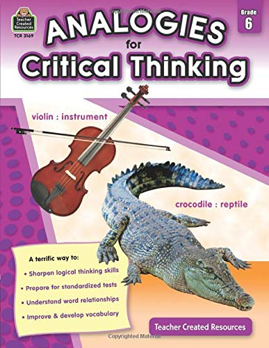 Analogies for Critical Thinking Grade 6 Cover
