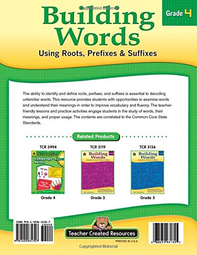 Building Words grade 4 sample pages