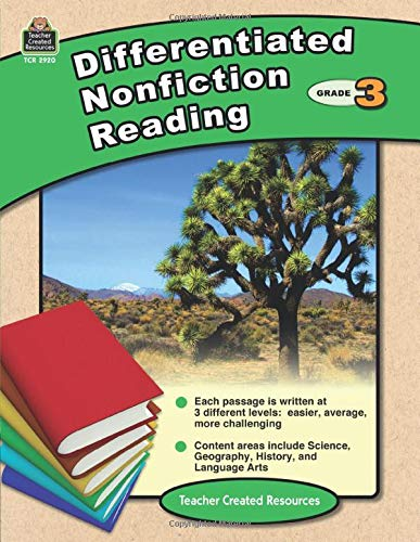 Differentiated Nonfiction Reading Grade 3 Cover