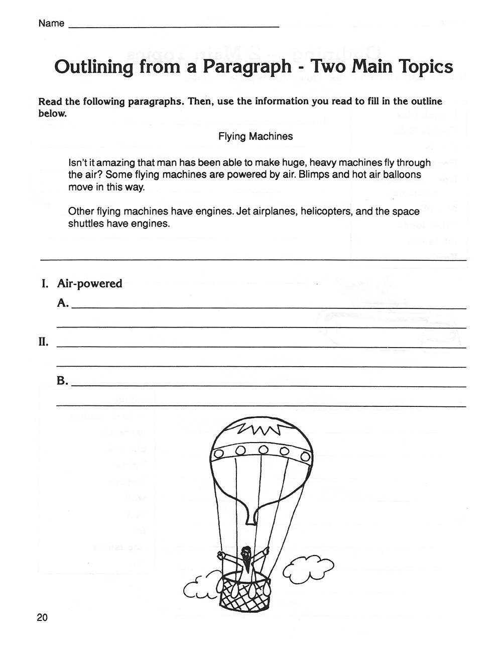Outlining Grades 5-8 sample pages