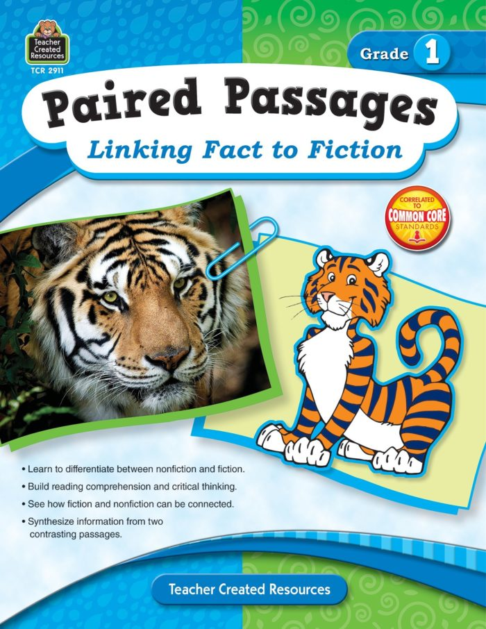 Paired Passages: Linking Fact to Fiction Grade 1 Cover