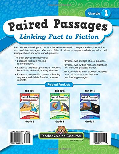 Paired Passages: Linking Fact to Fiction Back Cover