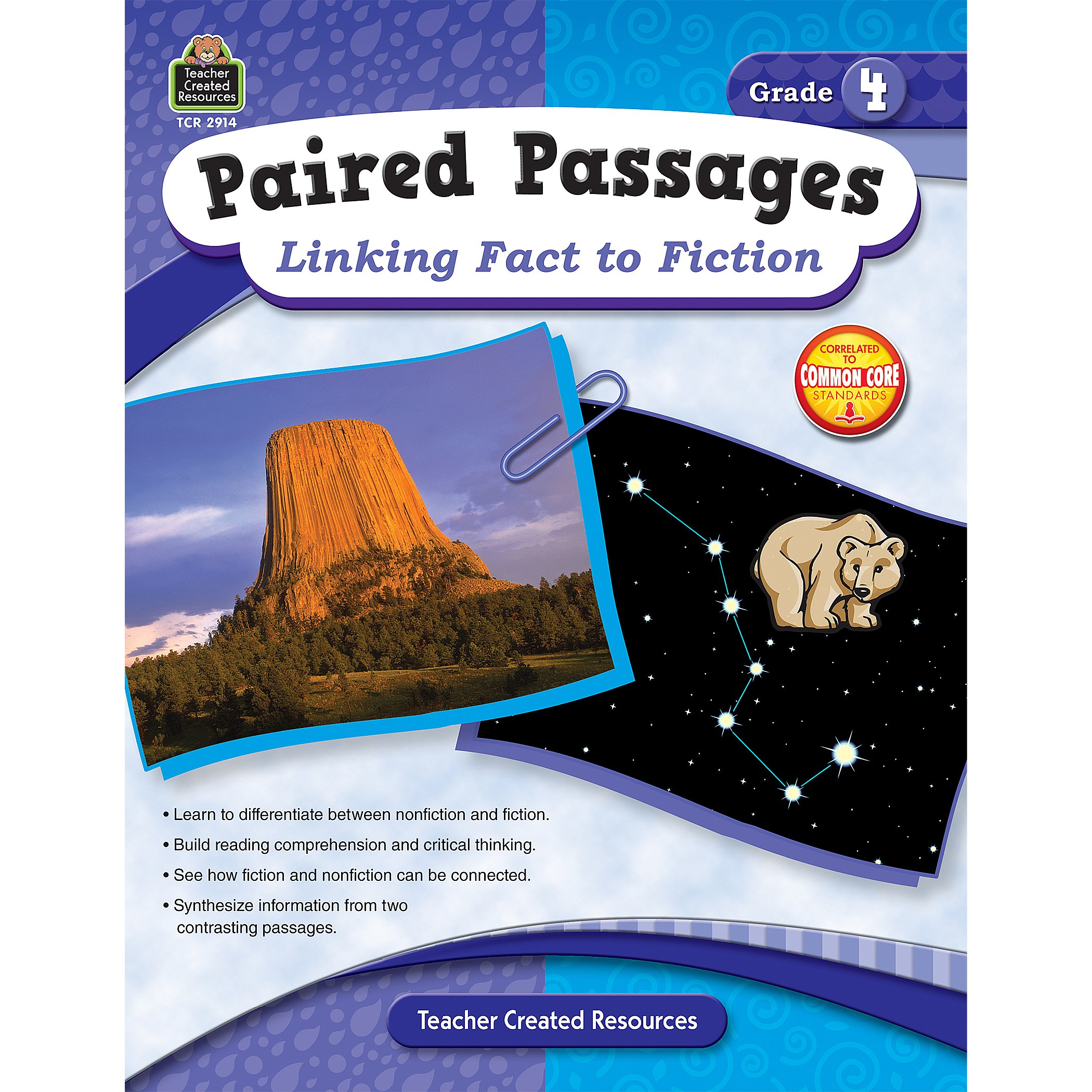 Paired Passages: Linking Fact to Fiction grade 4 front cover