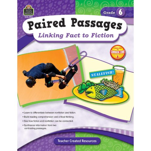 Paired Passages: Linking Fact to Fiction grade 6 front cover