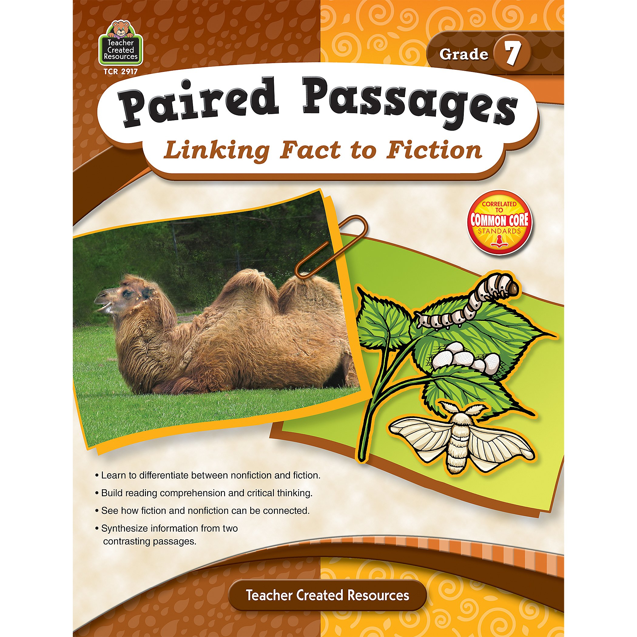 Paired Passages: Linking Fact to Fiction grade 7 front cover