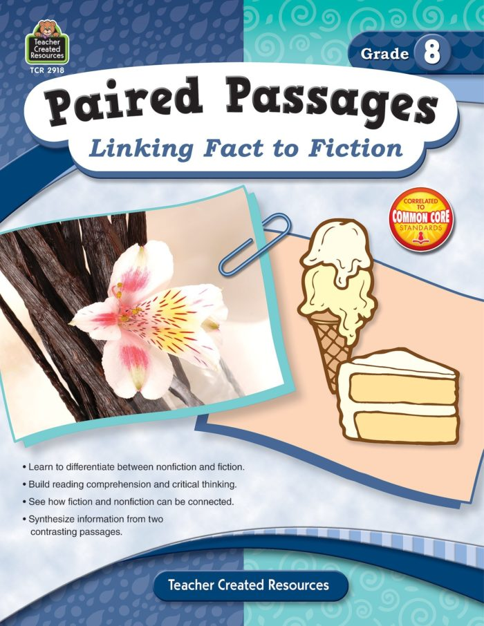 Paired Passages: Linking Fact to Fiction grade 8 front cover