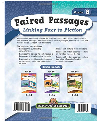 Paired Passages: Linking Fact to Fiction grade 8 sample pages