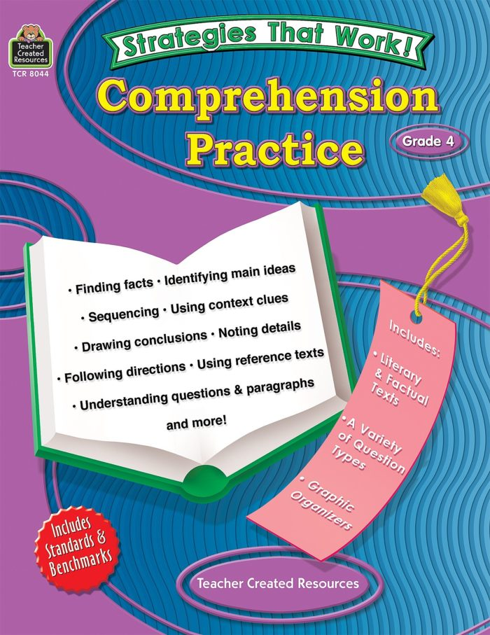 Strategies That Work Comprehension practice grade 4 front cover
