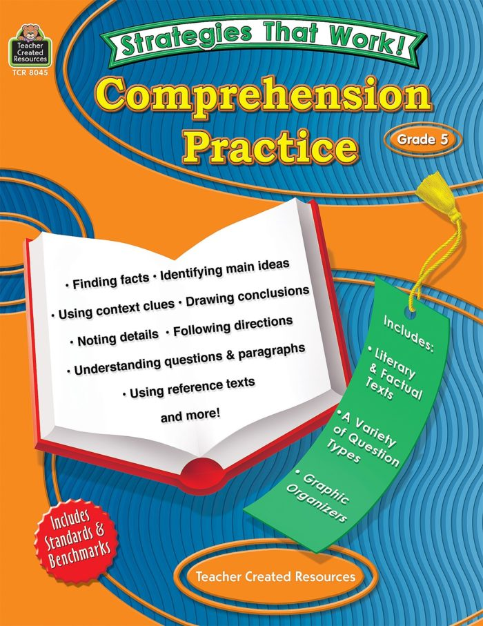 Strategies That Work Comprehension Practice Grade 5 Cover